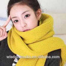 knitting fashion pattern plain jersey scarf