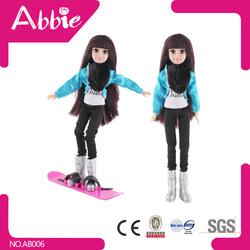 Wholesale Beatiful Plastic Full Body Doll Dolls DIY Toy Winter Sport Toys Little Girls Dolls Models