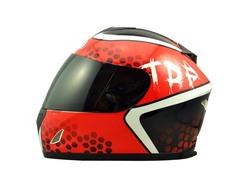 Dot red black ABS Adult men's full face motorcycle helmet