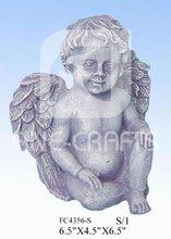 Polyresin Cupid garden figurine