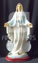 MARIA polyresin religious statue Virgin of Lourdes Lady of Mt Carmel