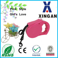 2015 new Retractable Dog Leash of Pink Style