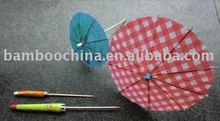 cocktail umbrella toothpick