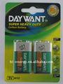 6F22 revestimento de PVC bateria seca 6 volt