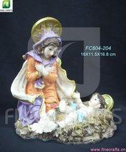 Polyresin Maria religious figurine souvenir