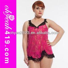 Fantastic ladies pink color short charming hot sex babydoll