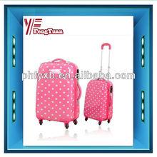 2015 china supplier Populor Polka dot printing PC trolley travel luggage/sky travel luggage/travel house luggage