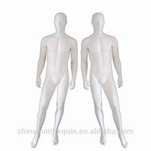 abstract head fiberglass full body standing male mannequin doll