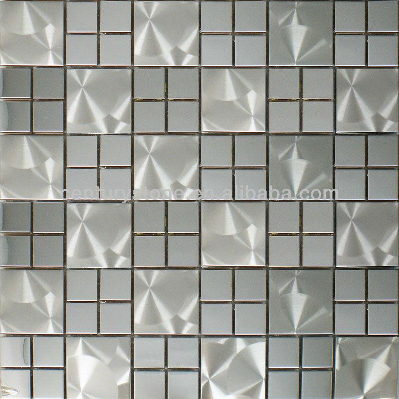 silber spiegel und pinsel edelstahl mosaik fliesen mosaik. Black Bedroom Furniture Sets. Home Design Ideas
