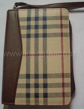 A5 zipper portfolio case, A5 leather portfolio