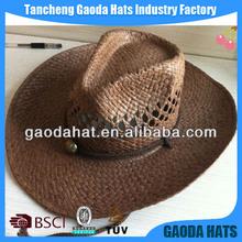 Wholesale cheap plain wholesale straw cowboy hats