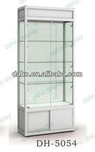 New glass showcase for showing jewelry/mobile phone