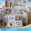 bordados de algodón de la enfermería los bebés conjunto ropa de cama
