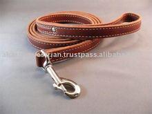 Leather dog lead