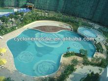 Glass mosaic tile swimming pool art, swimming pool tile