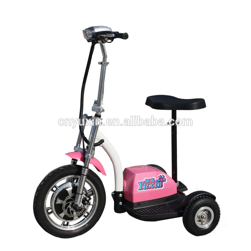 Yuxin 3 Wheel Electric Scooter 500w With Disc Brake New Shock View Yuxin 3 Wheel Electric