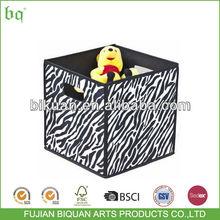 BQ home zebra style fabric decorative storage box