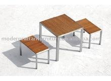 2015 hotsale Outdoor Teak table chair economical