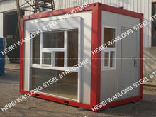 Unique design for prefab container shop with nice look!