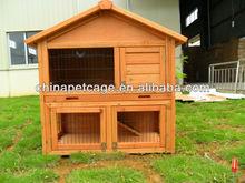 Factory price wooden rabbit hutch hx-t-025