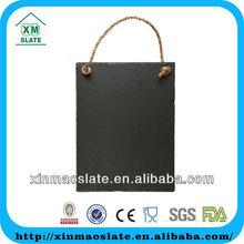 [factory direct] hot sale Handmade Hanging Large Black Slate decorative writing board