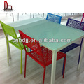 中国modernikeaキッチンホームカフェレストラン安いガラスのダイニングテーブルと椅子