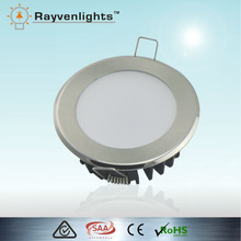 10W Australian Standard Warm White Chrome Round SMD Downlight Dimmable Recessed Led Downlight
