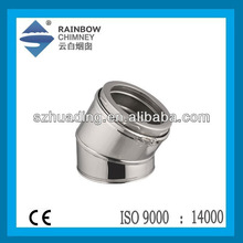 CE double wall stainless steel elbow