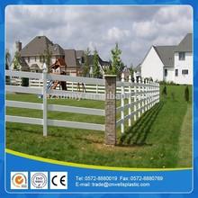 PVC pole and rail paddock fence