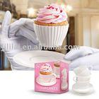 4 Pcs Silicone Tea Cupcake Set