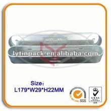 Slim metal pencil tin case