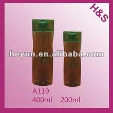 400ml 200ml shine plastic PET shampoo bottle A119
