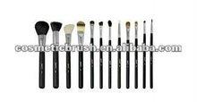 QXCBR-28112pcs quality goat nylon pony hair mini cosmetic brushes kit with pu bag