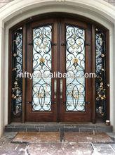China Guangzhou Wood Iron Doors