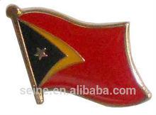 2014 new custom unique metal lapel badge East timor flag pin cheap good quality