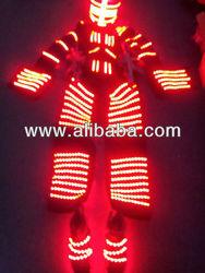 LED Lights costumes LED dancer performance costumes LED robot costume trajes de LED disfraz luces
