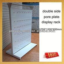 supermarket metal double side suction cup shelf rack