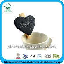 slate heart shaped chalkboard clip craft