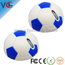 business gift wireless mouse optical with football shape for soccer fans
