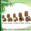 double wall cream jars eco bamboo cream jars cosmetic packaging plastic jar inside
