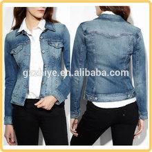 China fashion wholesale denim jacket women