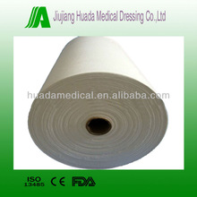 CE FDA Approved 100% Cotton Surgical Medical Bleached Jumbo gauze roll