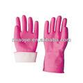 pink flocklined luvas de borracha domésticos