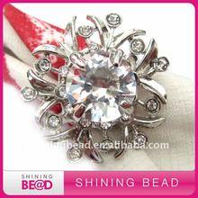 flower crystal napkin rings for wedding table
