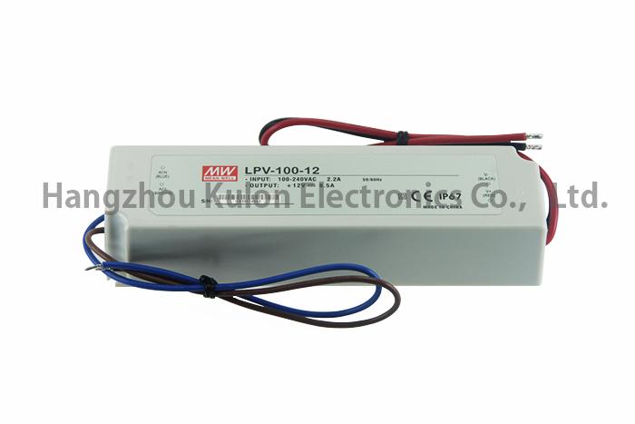 Meanwell LPV-100-12 IP67 12V 100W led driver