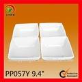4 pcs liso branco porcelana sets
