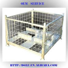 steel gridding box pallet storage cage