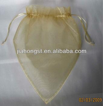 heart organza pouch bag