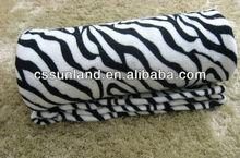 polyester knitting zebra printed coral fleece bathrobe fabric