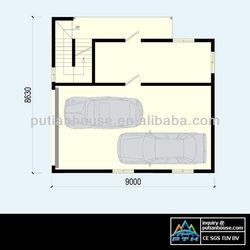 Multistory light gauge steel structural prefab house